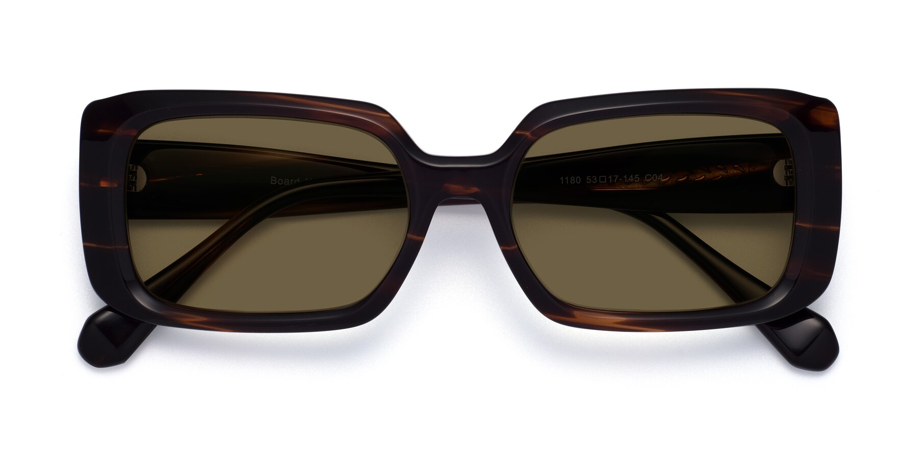 Folded Front of Board in Wine with Brown Polarized Lenses