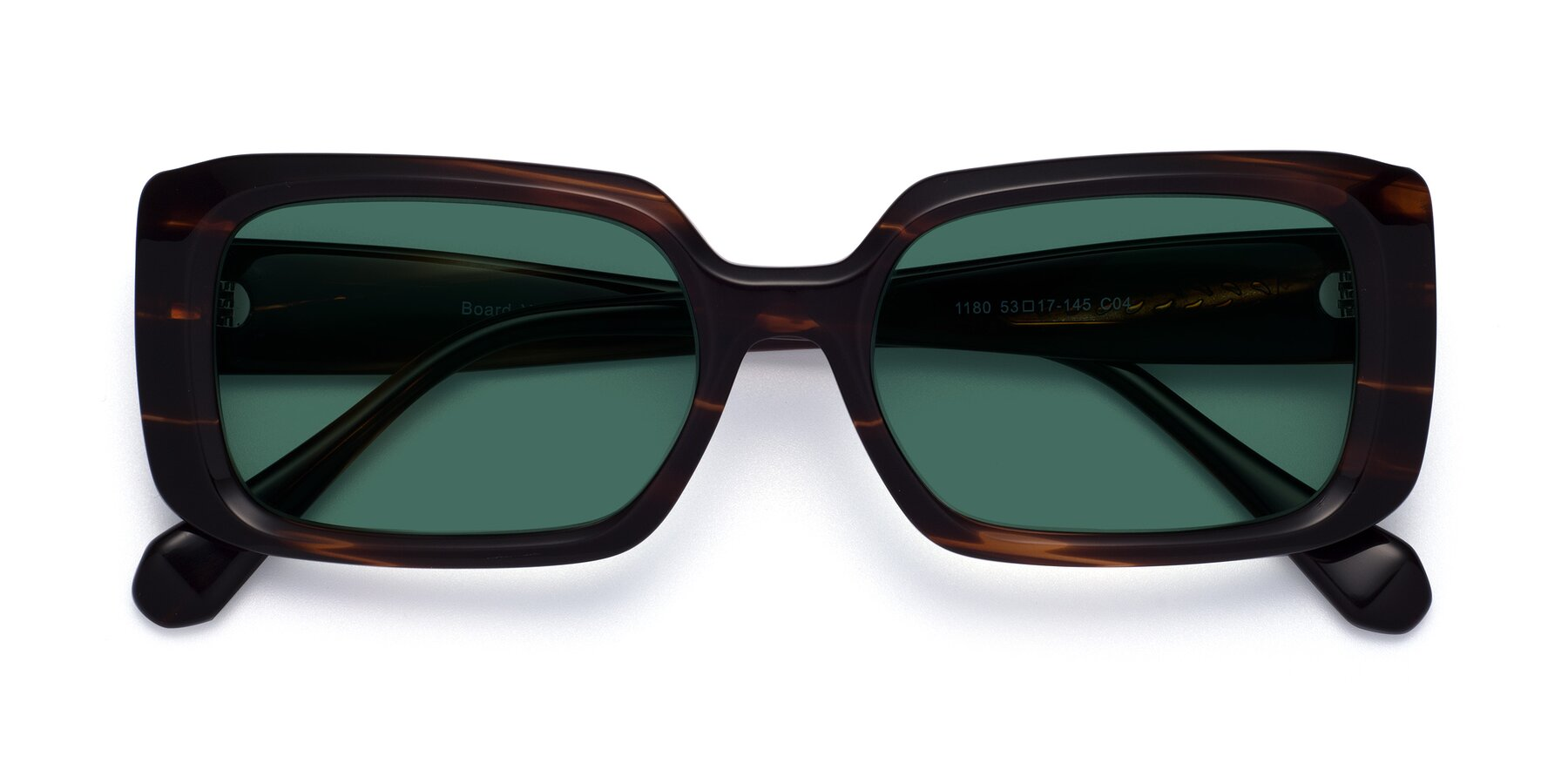 Folded Front of Board in Wine with Green Polarized Lenses