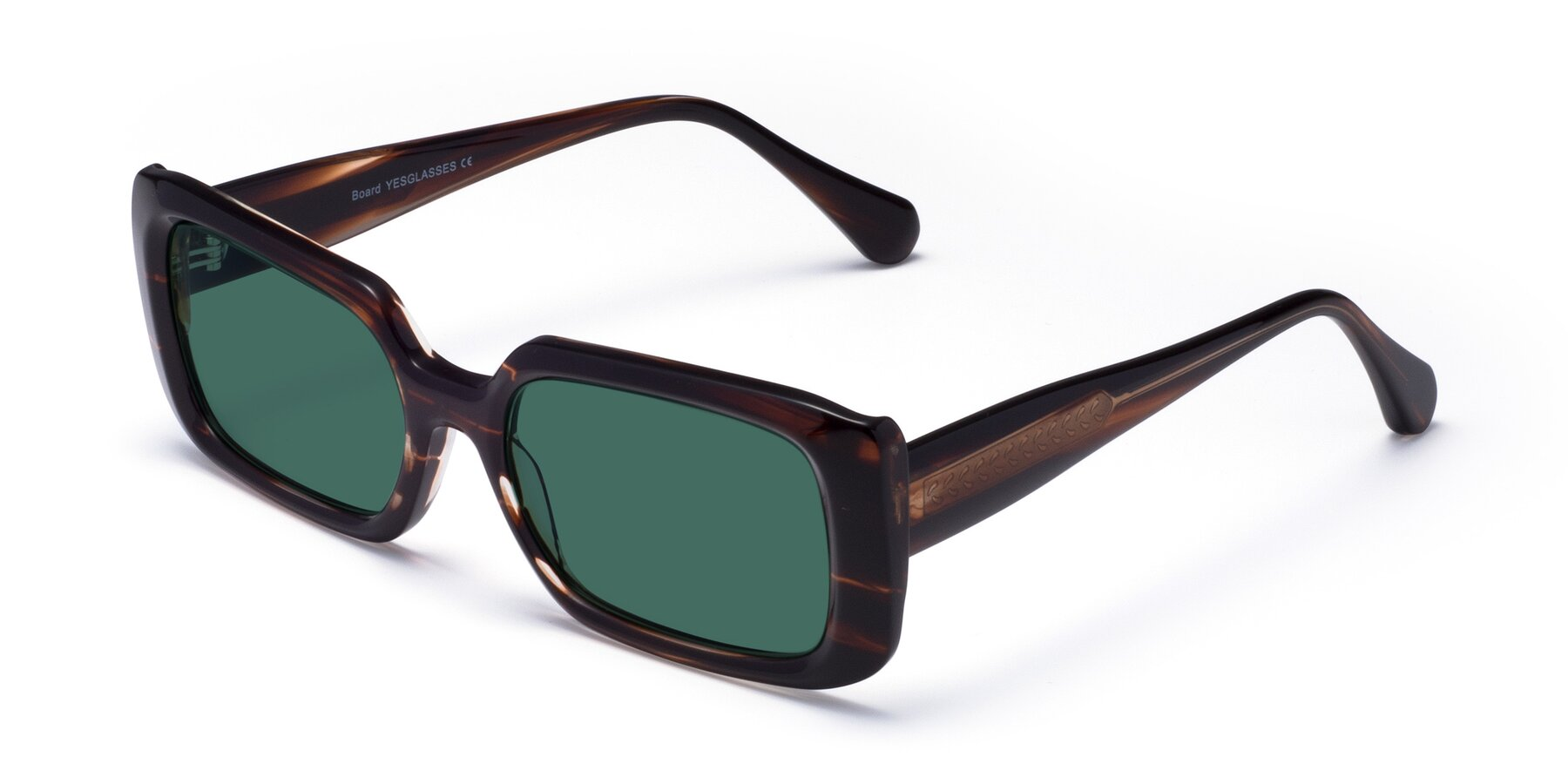 Angle of Board in Wine with Green Polarized Lenses