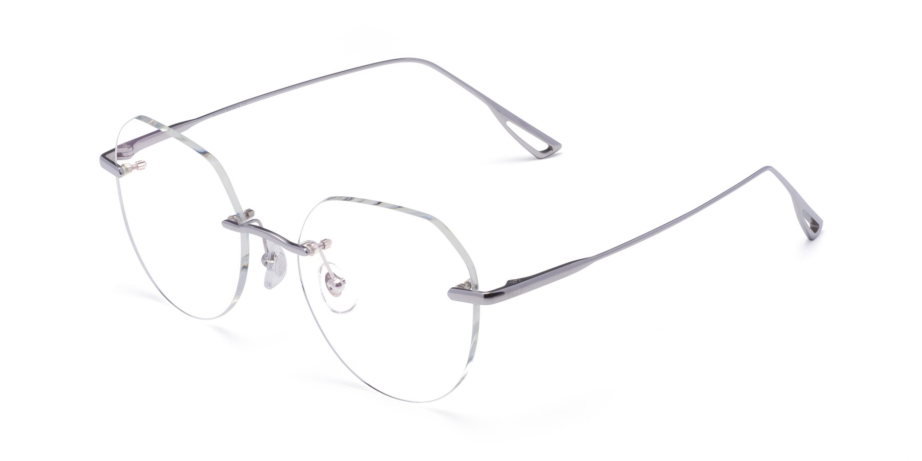 Angle of Torres in Silver with Clear Eyeglass Lenses