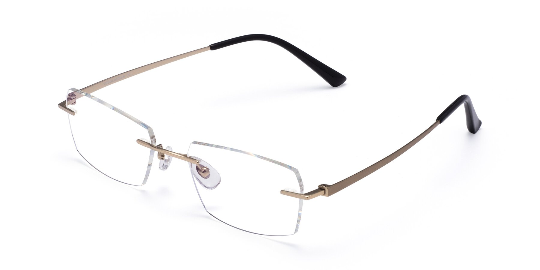 Angle of Basco in Gold with Clear Eyeglass Lenses