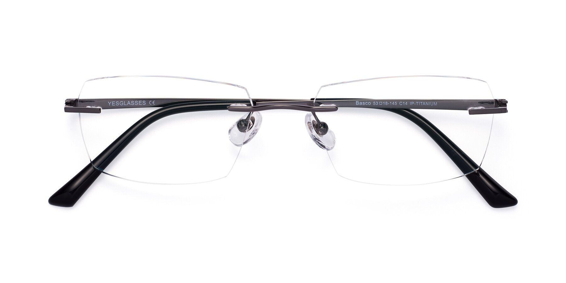 Folded Front of Basco in Gun with Clear Eyeglass Lenses