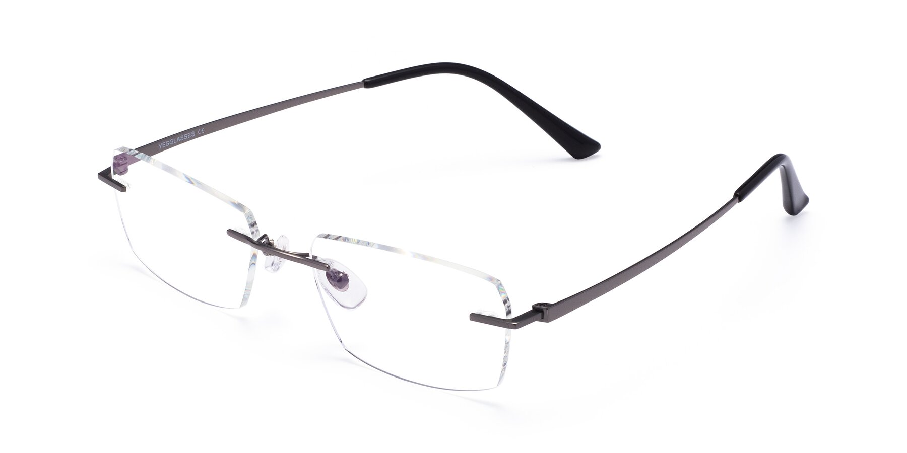 Angle of Basco in Gun with Clear Blue Light Blocking Lenses