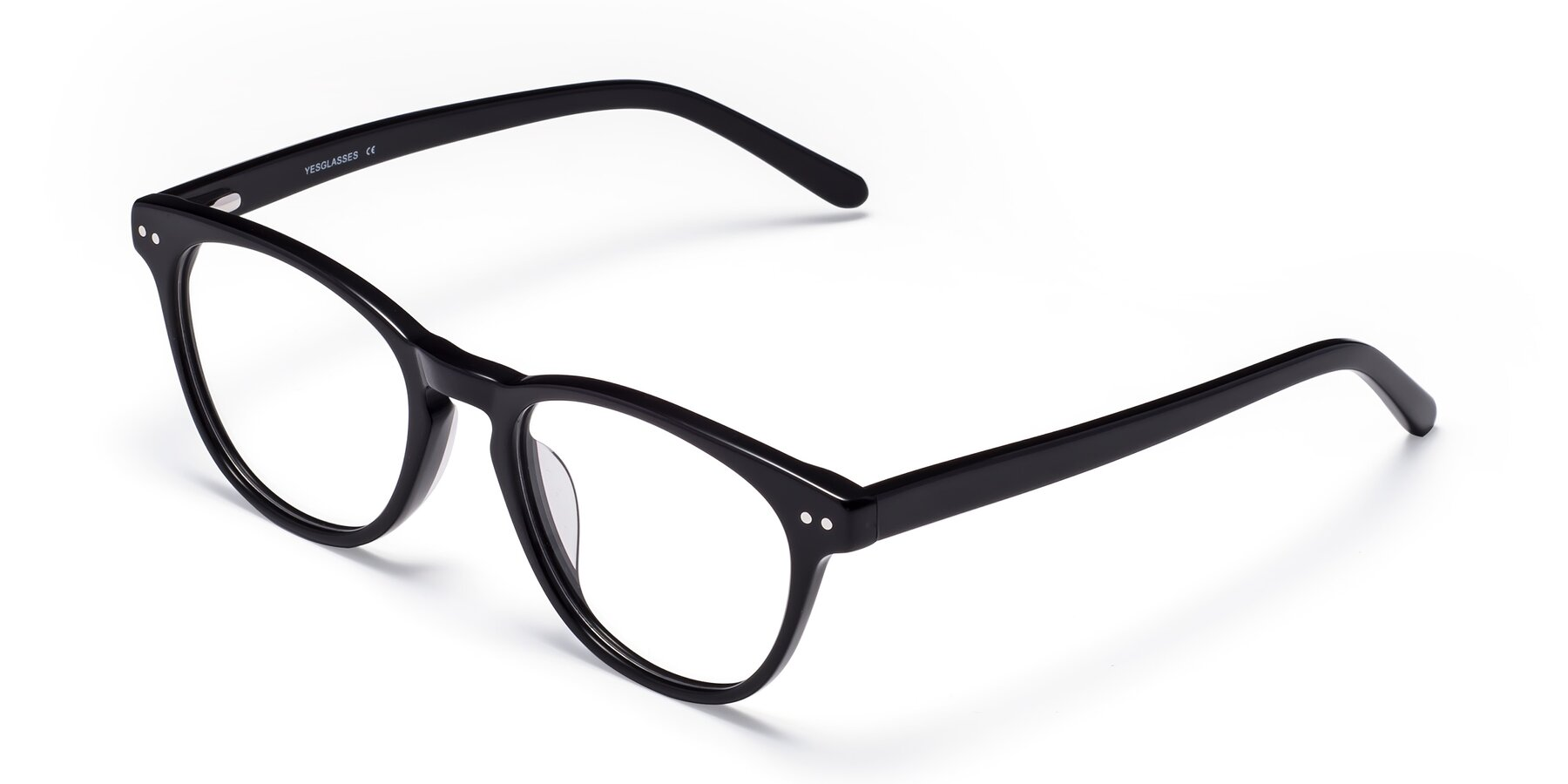 Angle of Blaze in Black with Clear Eyeglass Lenses