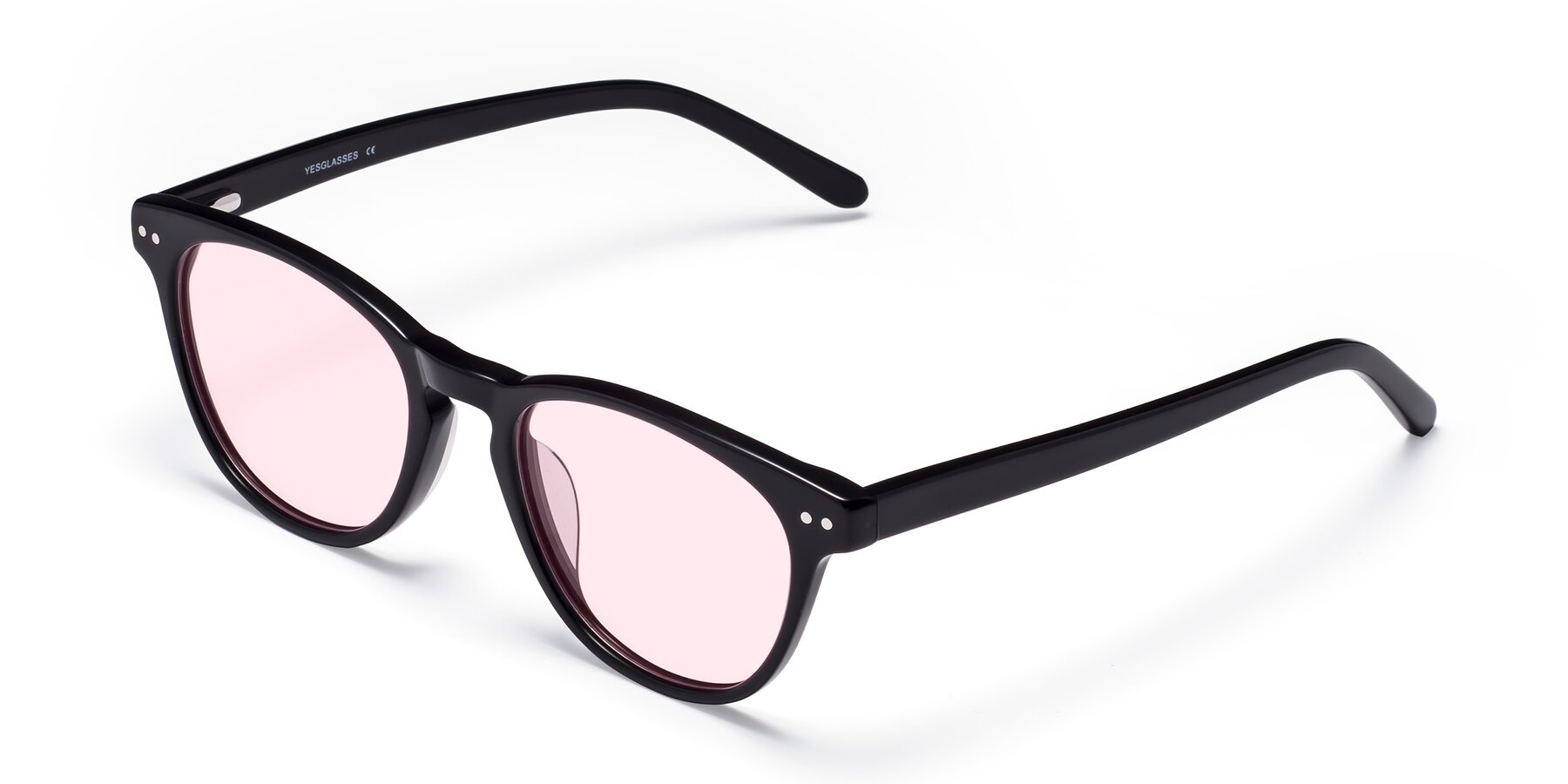 Angle of Blaze in Black with Light Pink Tinted Lenses