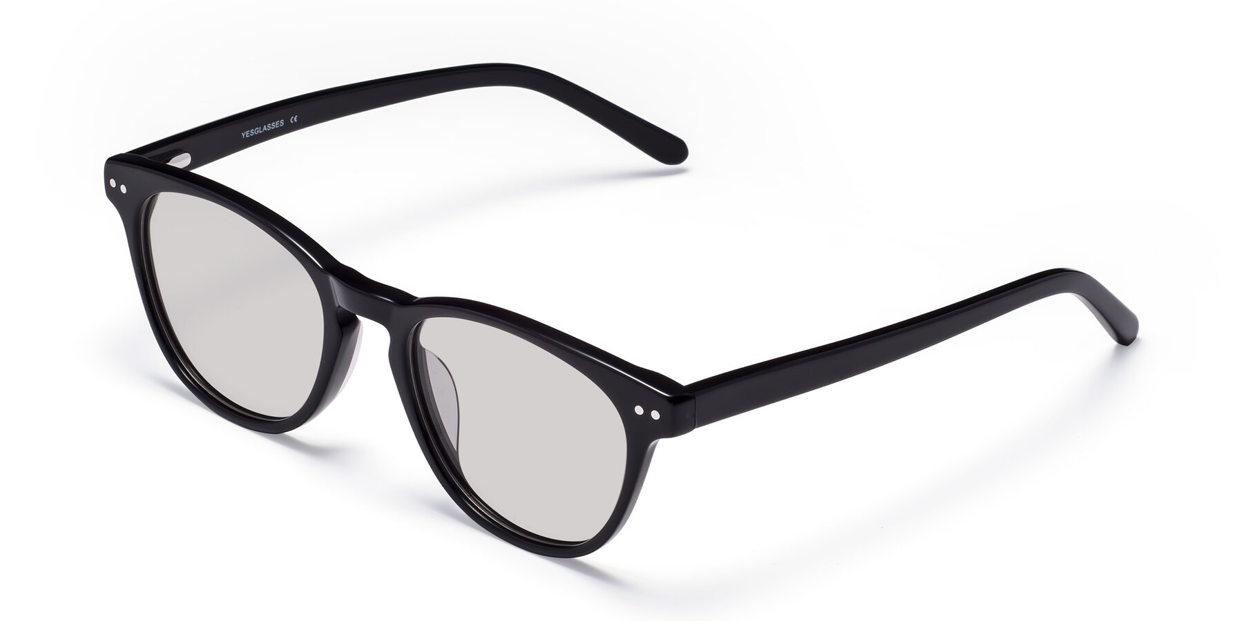 Angle of Blaze in Black with Light Gray Tinted Lenses