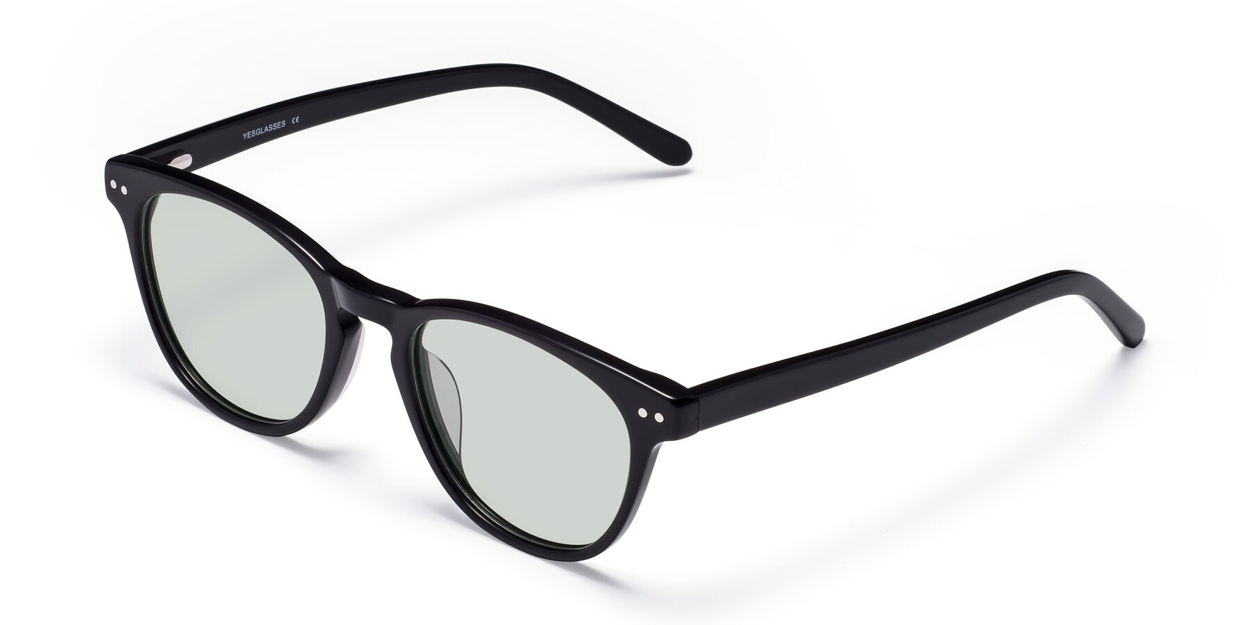Angle of Blaze in Black with Light Green Tinted Lenses