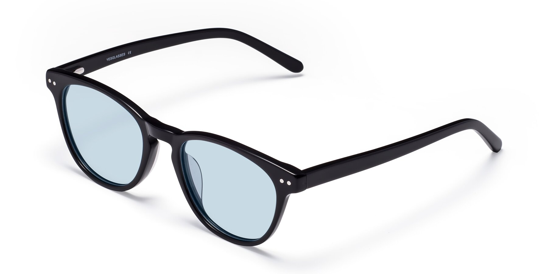 Angle of Blaze in Black with Light Blue Tinted Lenses