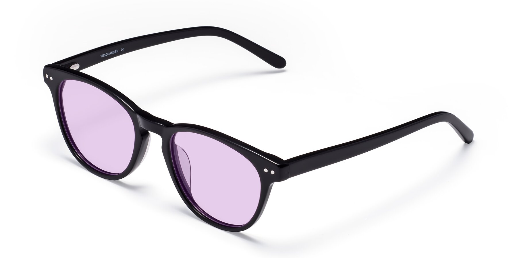 Angle of Blaze in Black with Light Purple Tinted Lenses