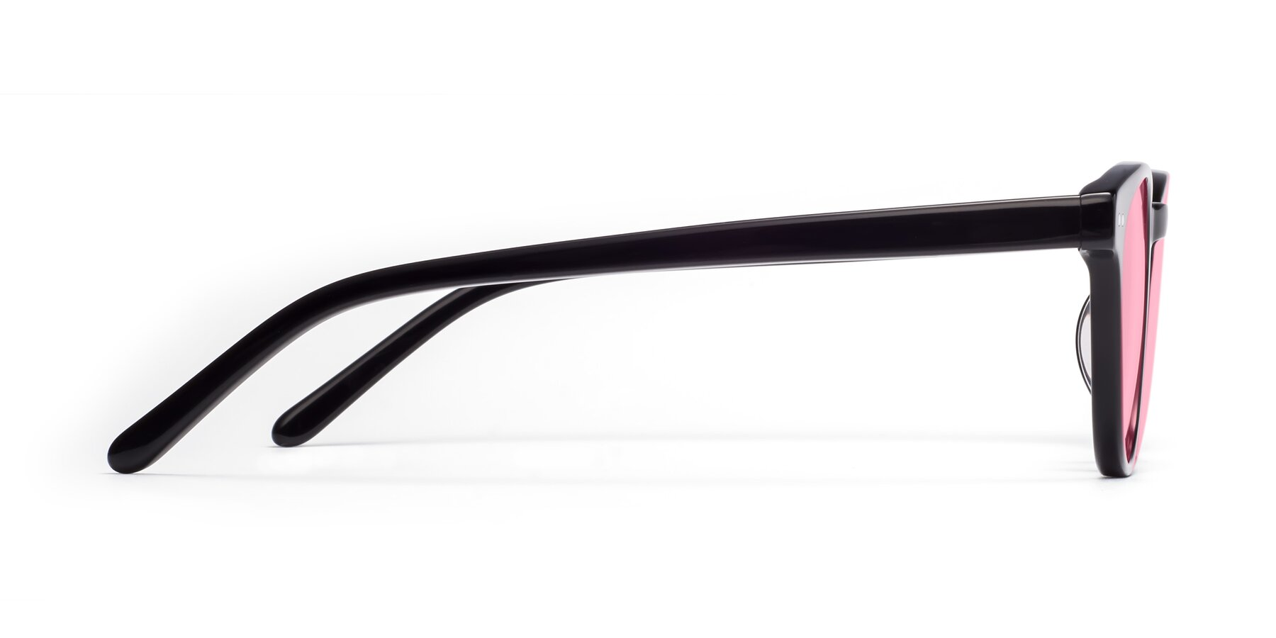 Side of Blaze in Black with Medium Pink Tinted Lenses