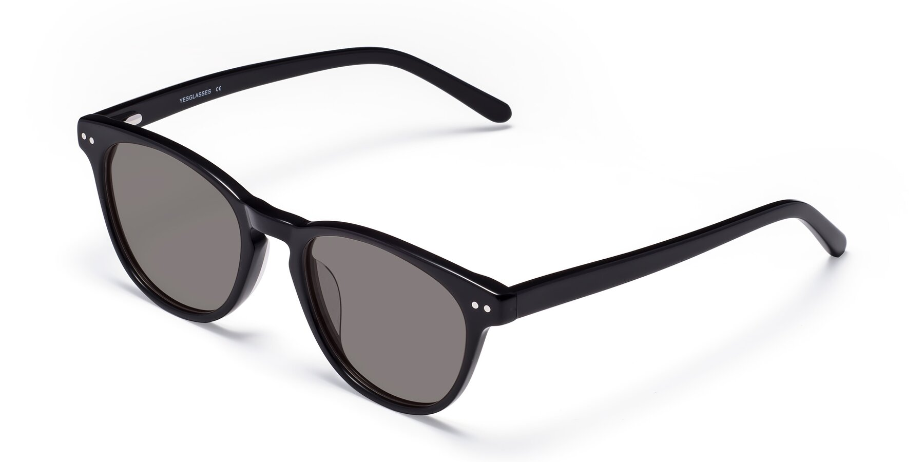 Angle of Blaze in Black with Medium Gray Tinted Lenses