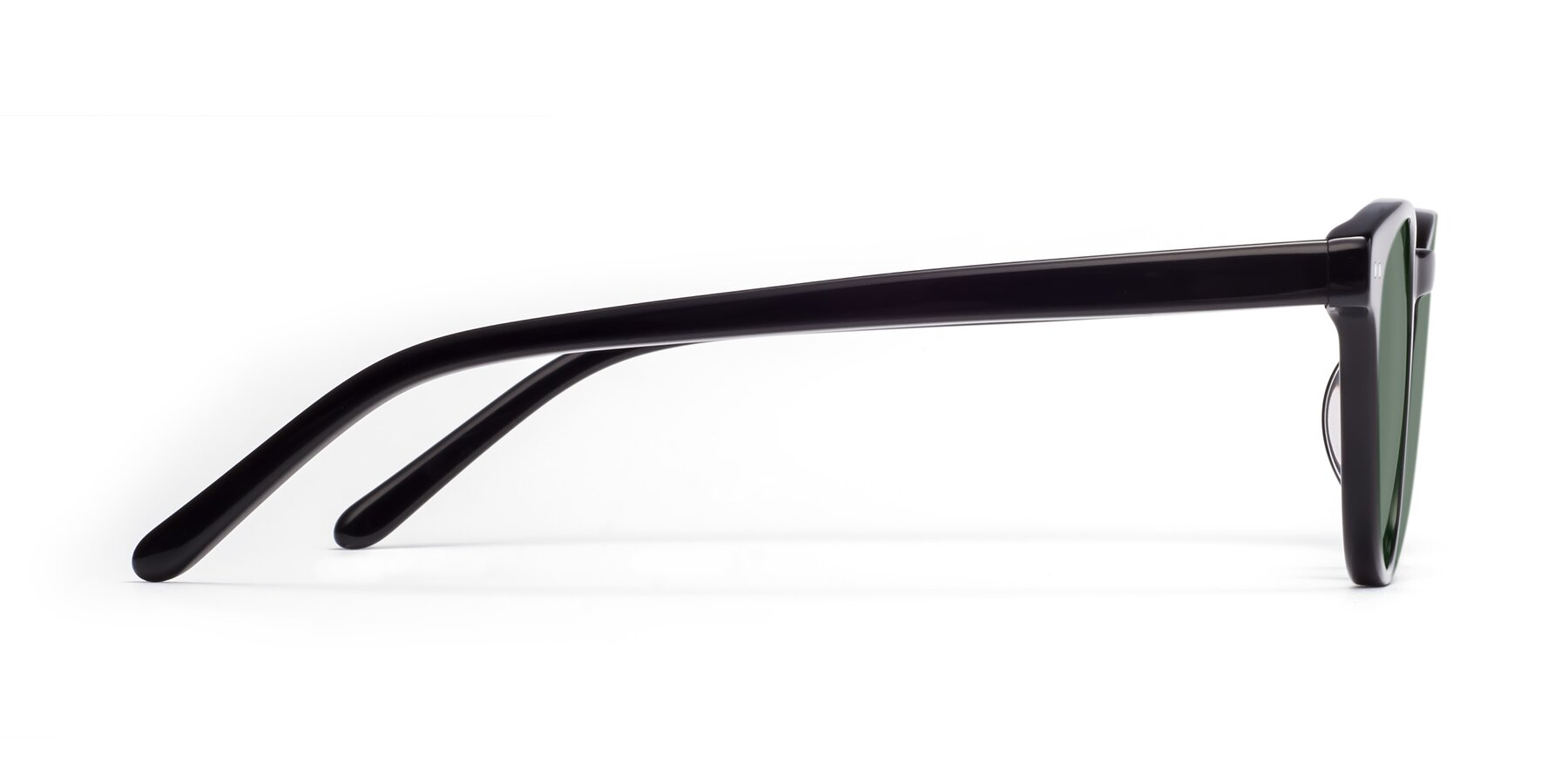 Side of Blaze in Black with Medium Green Tinted Lenses