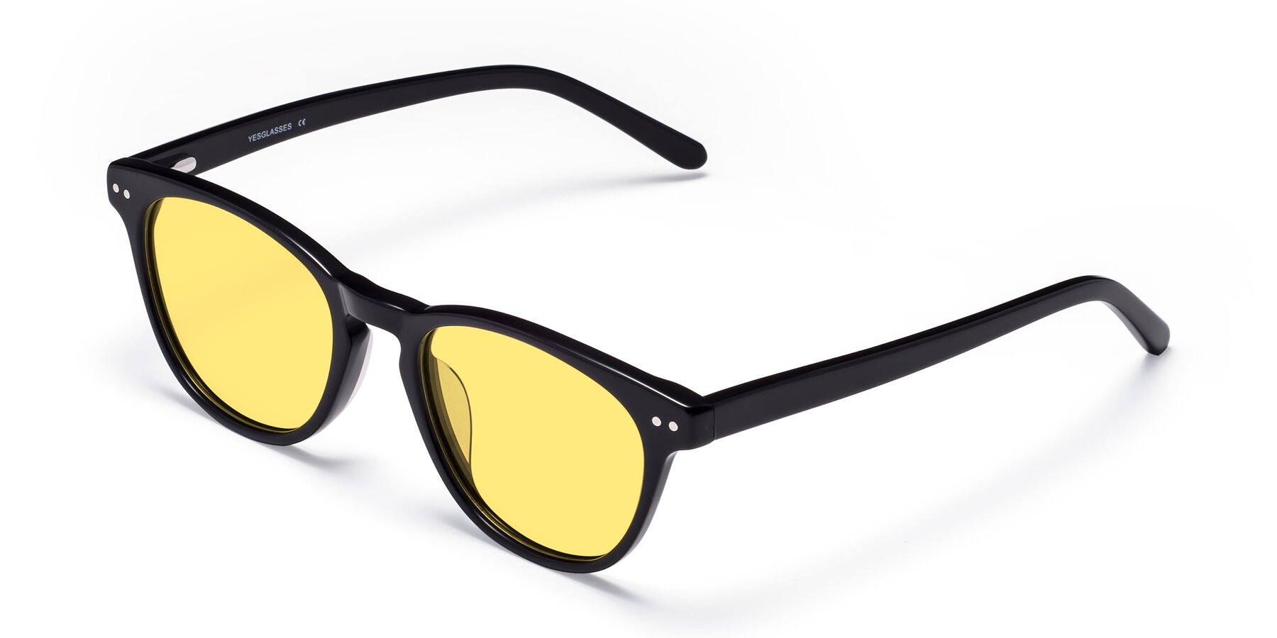 Angle of Blaze in Black with Medium Yellow Tinted Lenses
