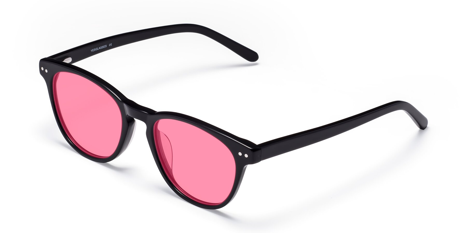 Angle of Blaze in Black with Pink Tinted Lenses
