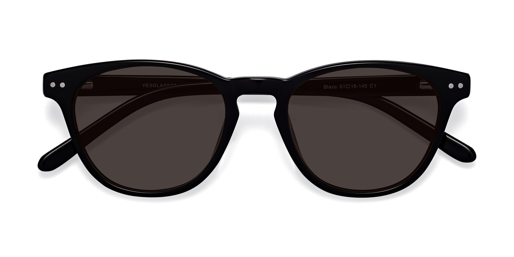 Folded Front of Blaze in Black with Gray Tinted Lenses