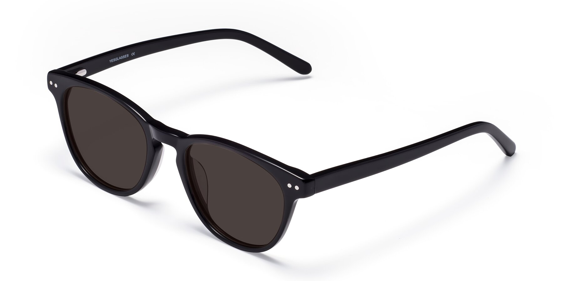 Angle of Blaze in Black with Gray Tinted Lenses