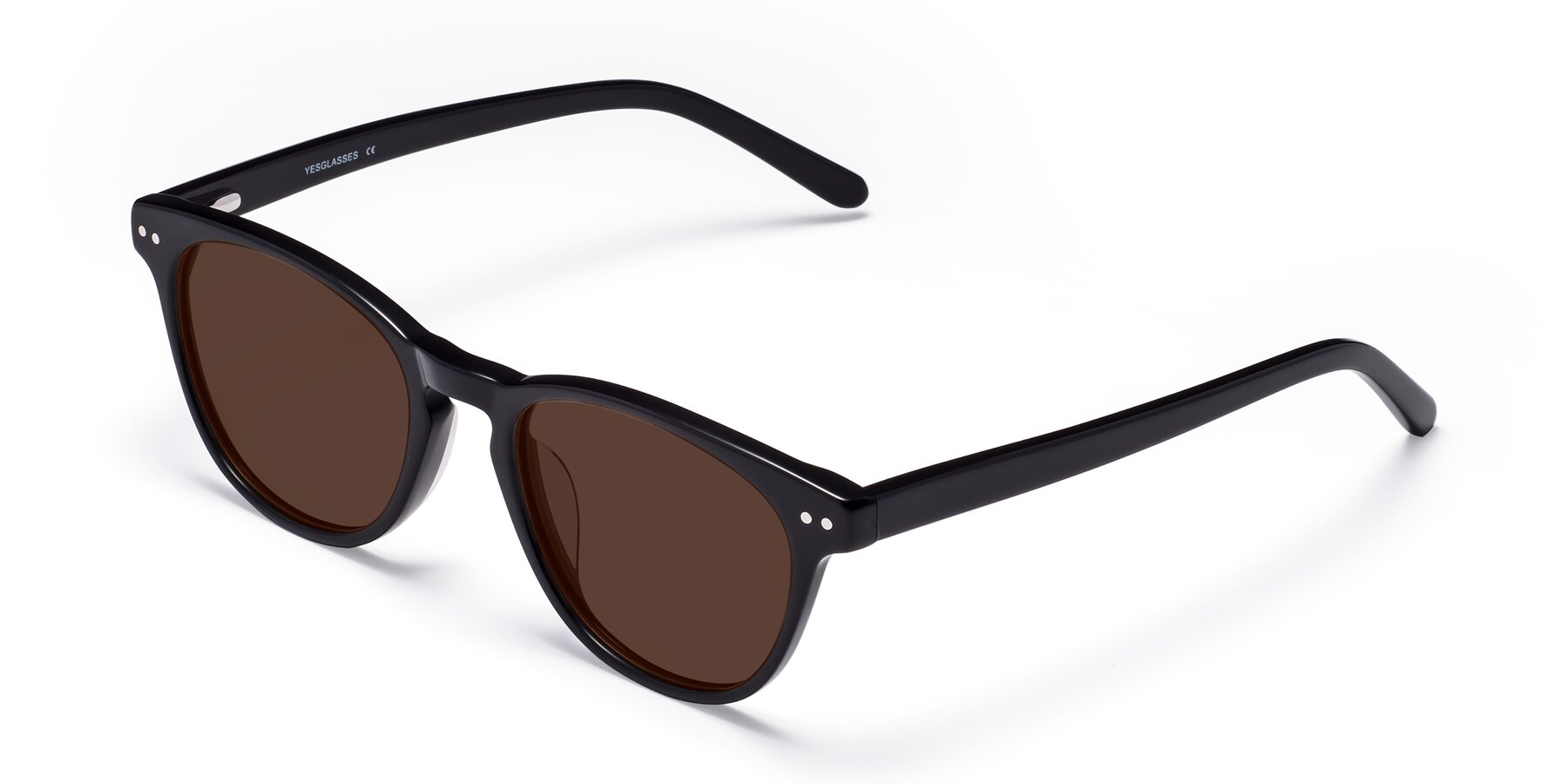 Angle of Blaze in Black with Brown Tinted Lenses