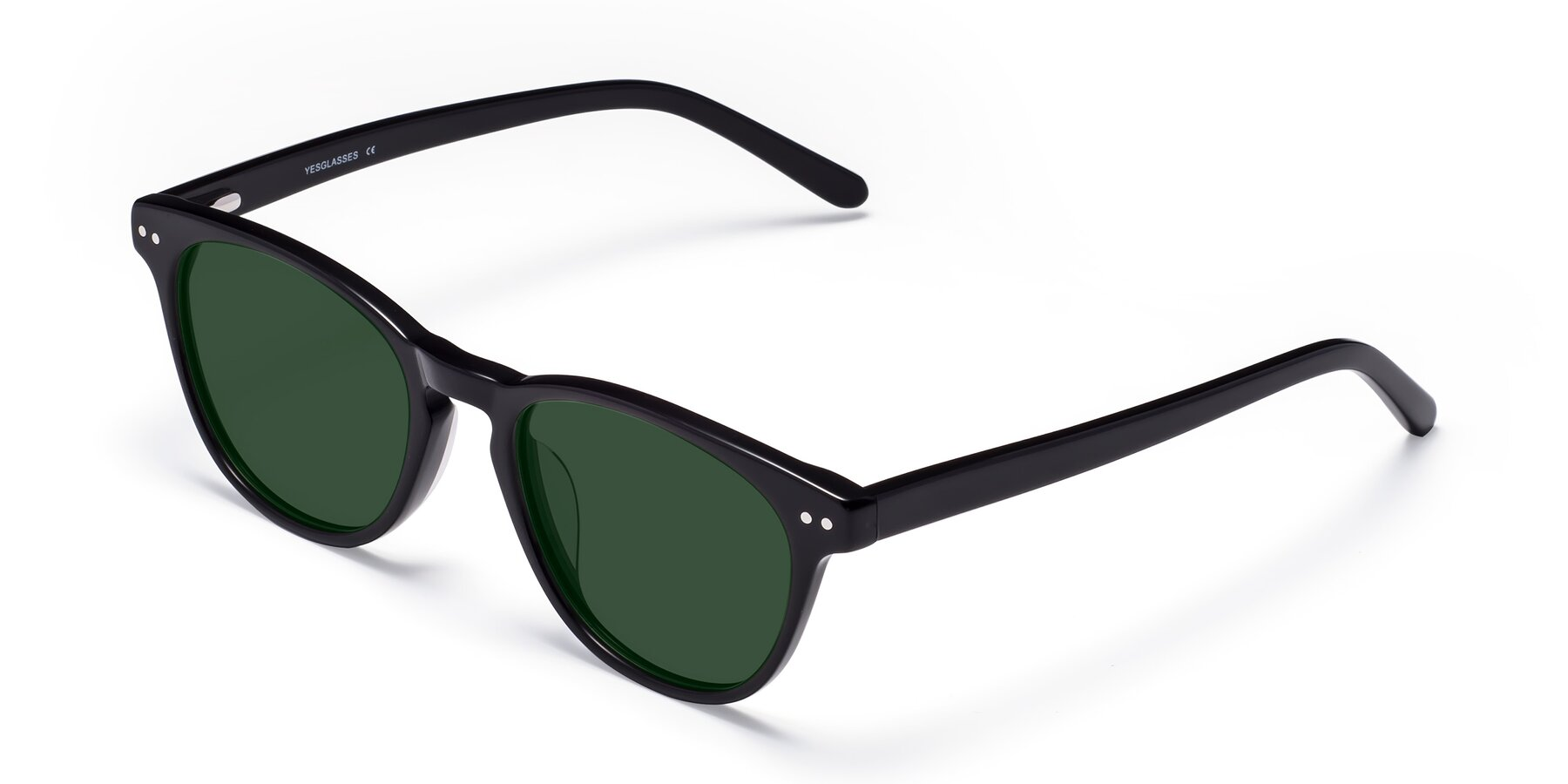 Angle of Blaze in Black with Green Tinted Lenses