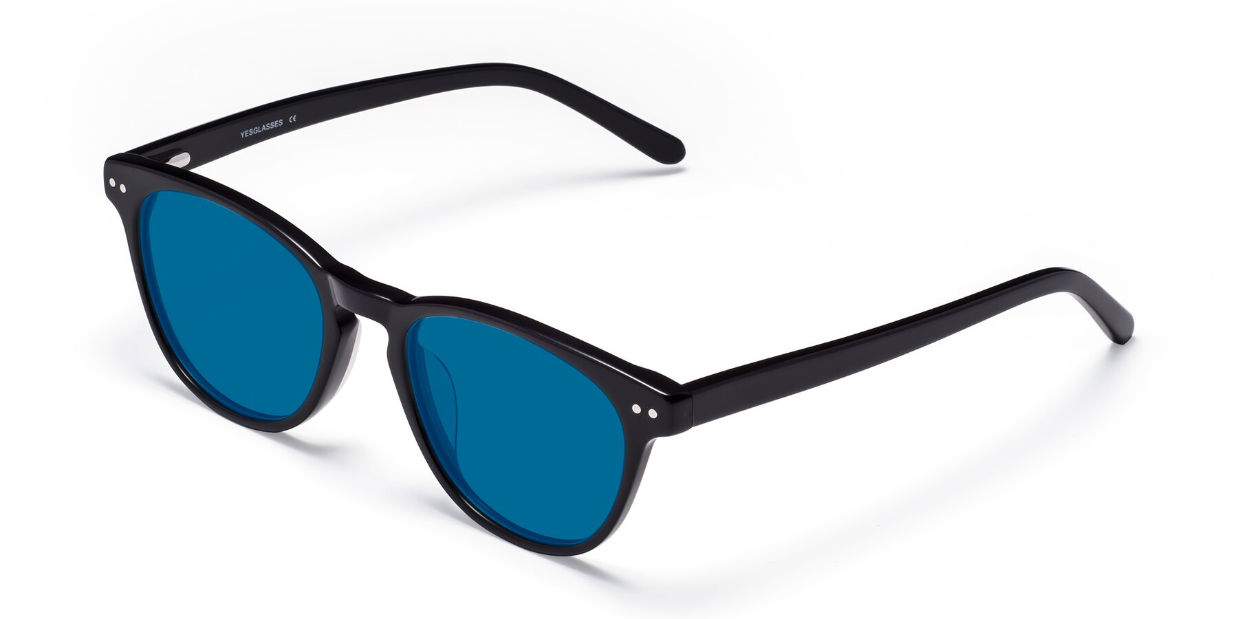 Angle of Blaze in Black with Blue Tinted Lenses