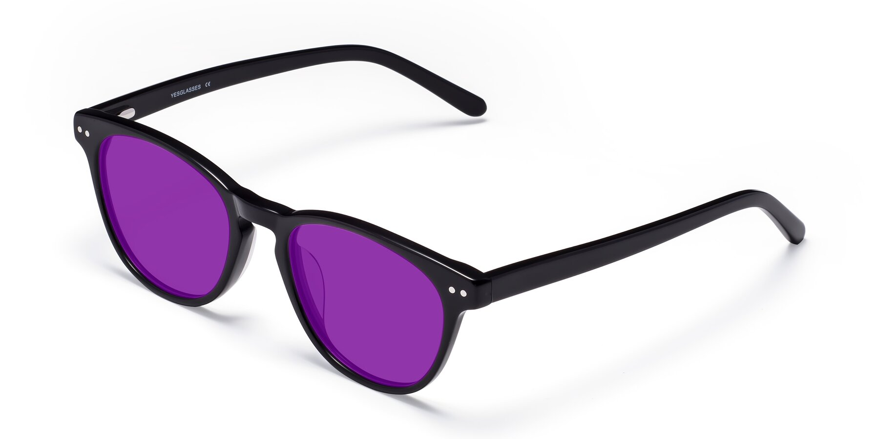Angle of Blaze in Black with Purple Tinted Lenses