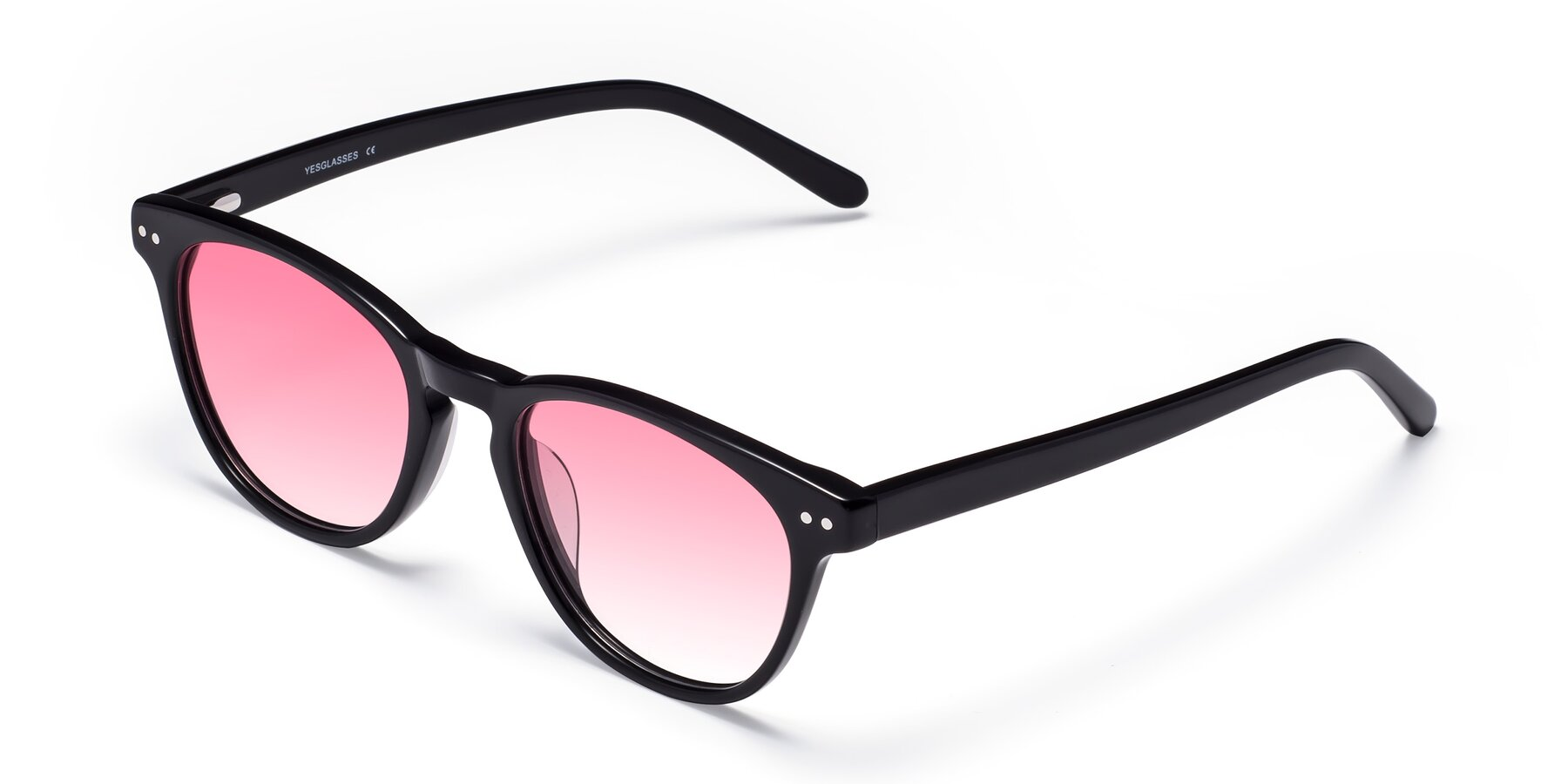 Angle of Blaze in Black with Pink Gradient Lenses