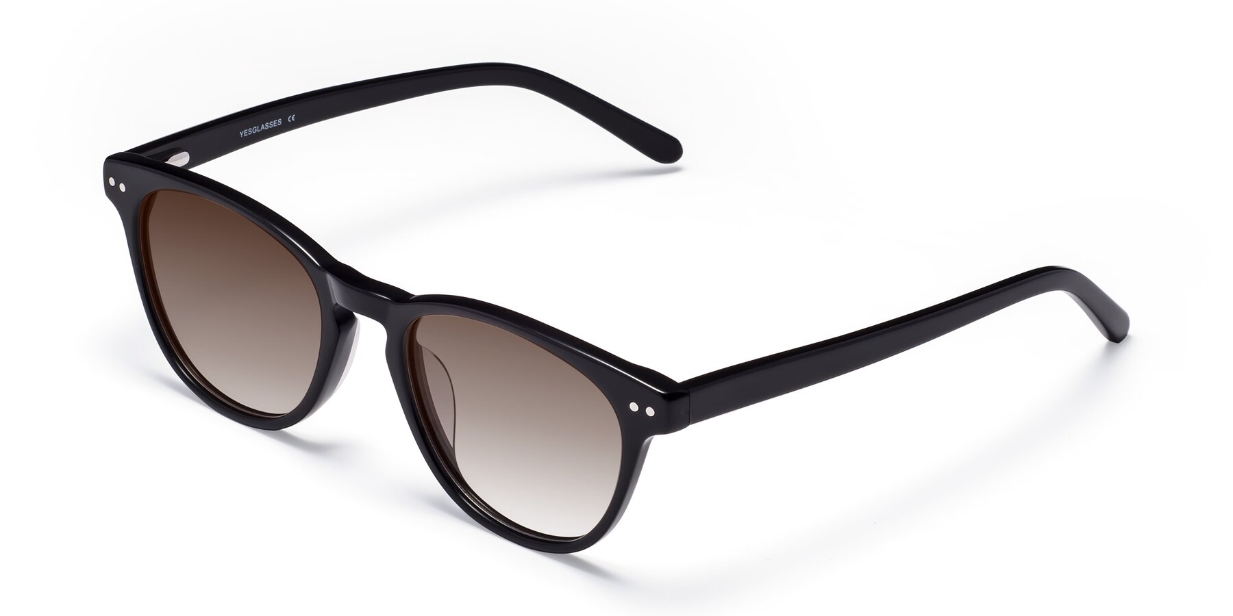 Angle of Blaze in Black with Brown Gradient Lenses