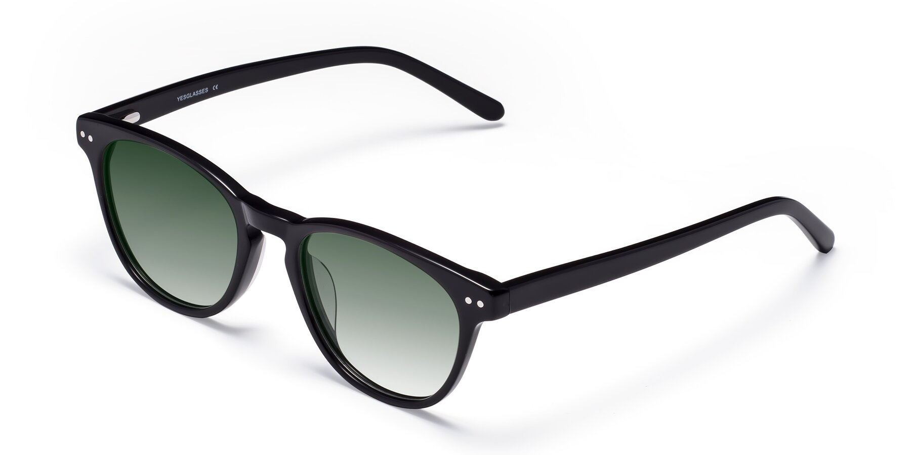 Angle of Blaze in Black with Green Gradient Lenses