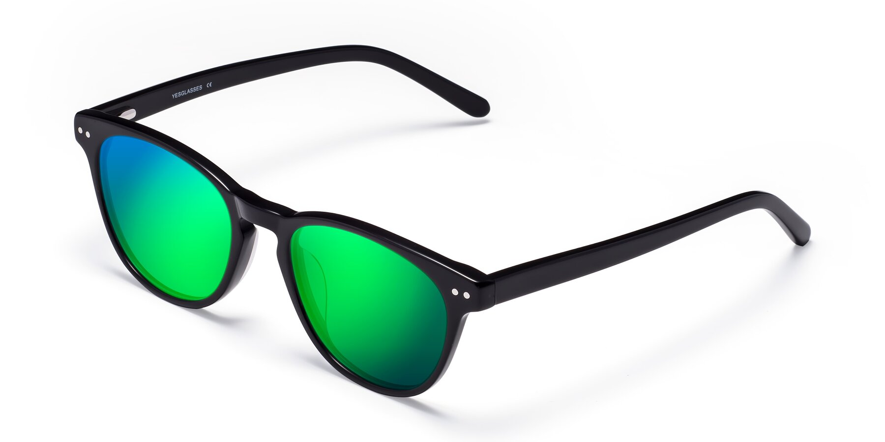Angle of Blaze in Black with Green Mirrored Lenses