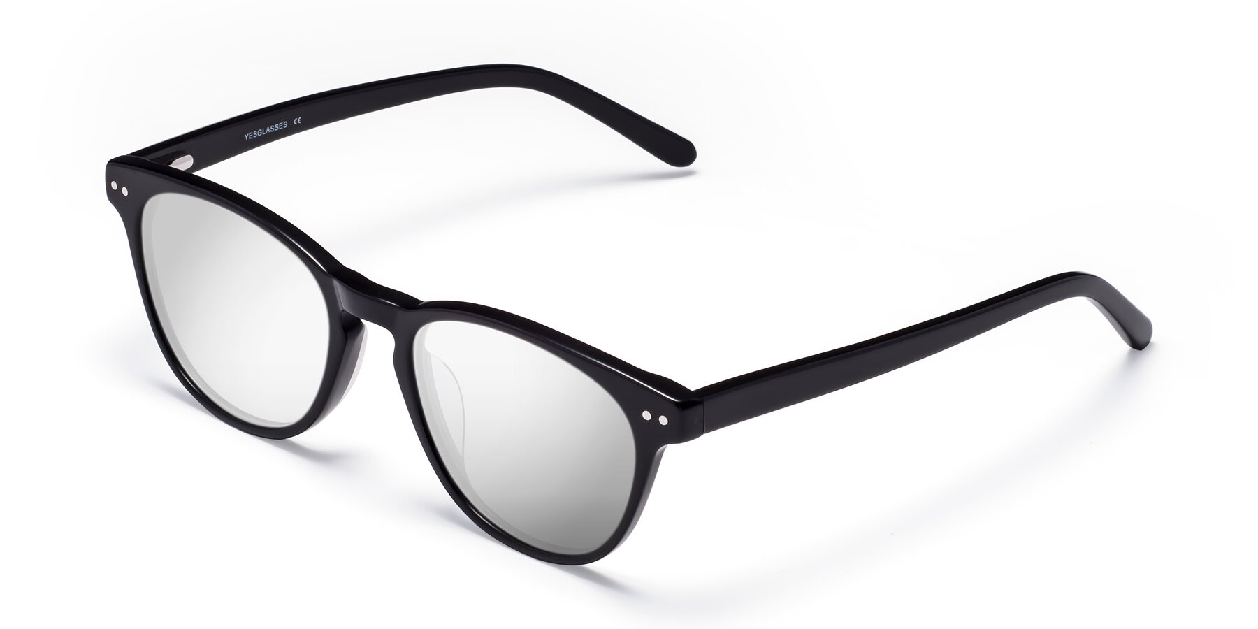 Angle of Blaze in Black with Silver Mirrored Lenses