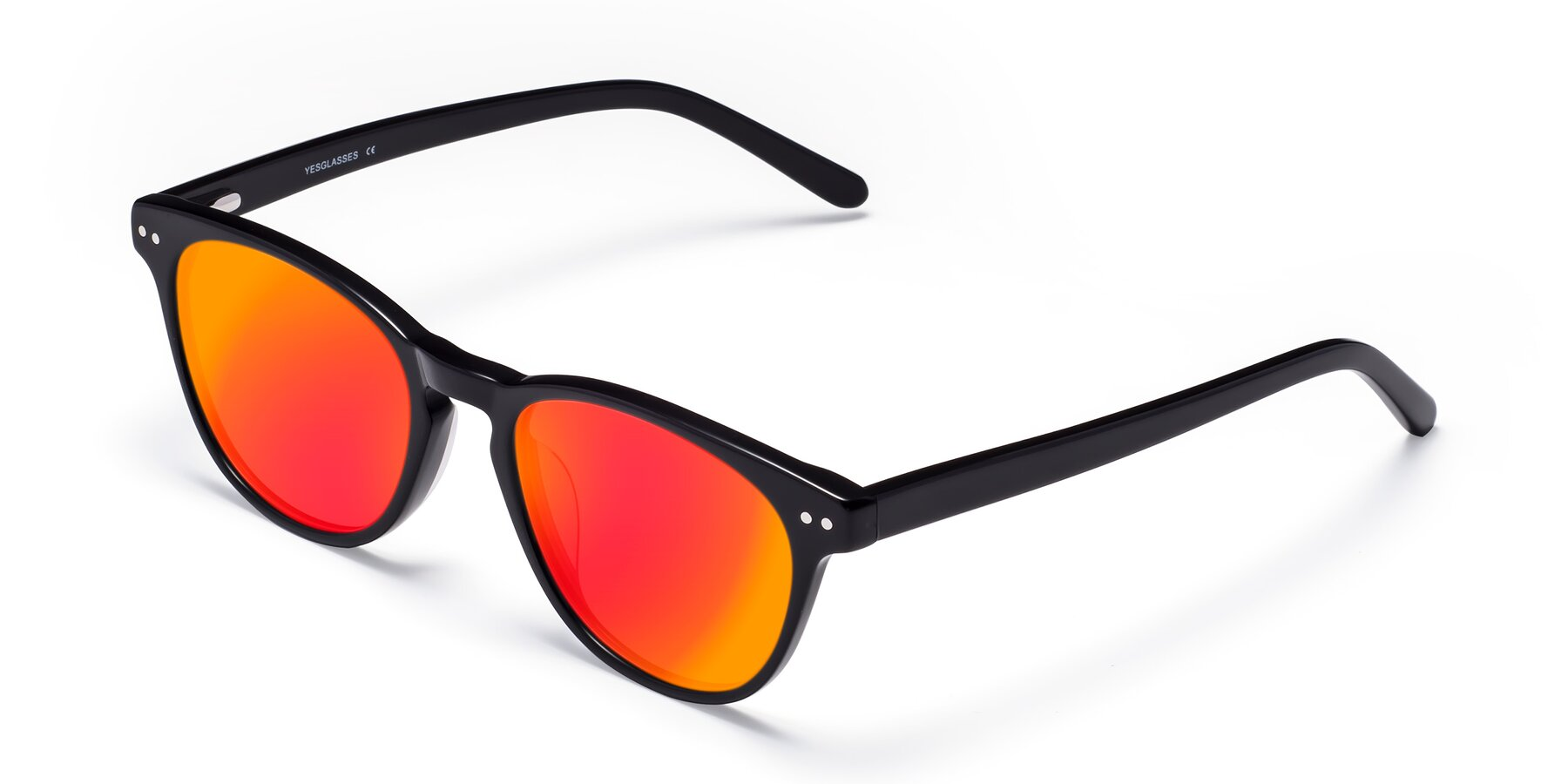 Angle of Blaze in Black with Red Gold Mirrored Lenses