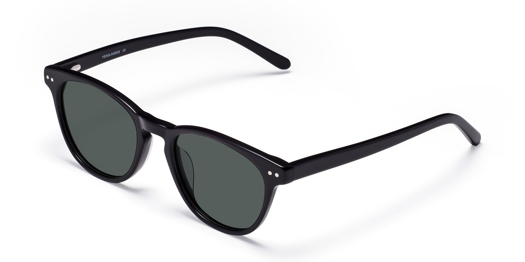 Angle of Blaze in Black with Gray Polarized Lenses