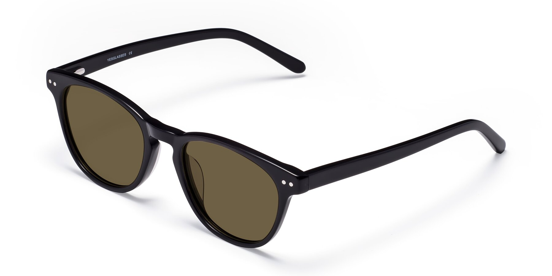 Angle of Blaze in Black with Brown Polarized Lenses
