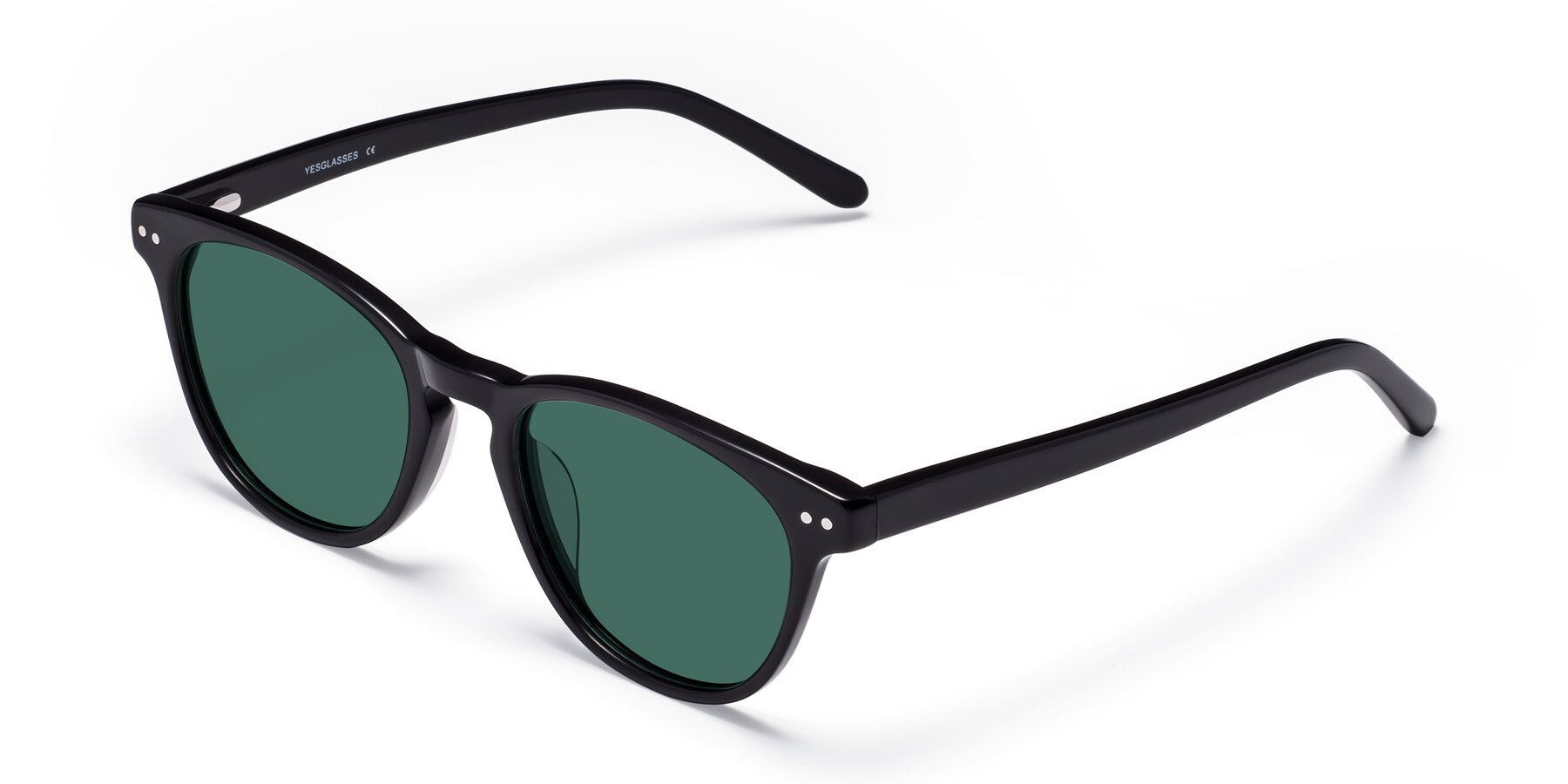 Angle of Blaze in Black with Green Polarized Lenses