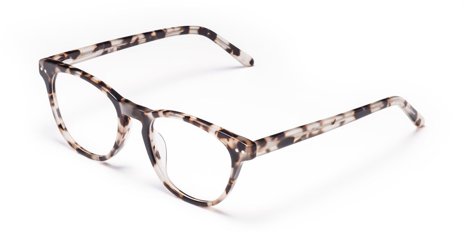 Angle of Blaze in Tortoise with Clear Eyeglass Lenses