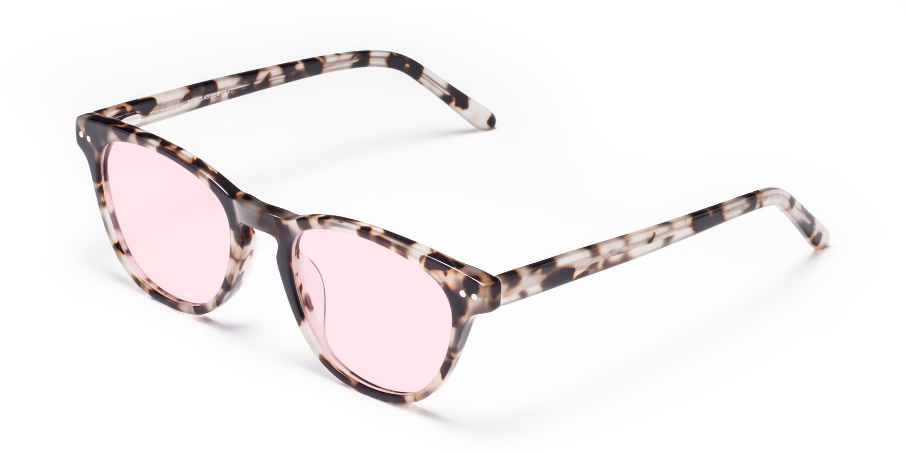 Angle of Blaze in Tortoise with Light Pink Tinted Lenses