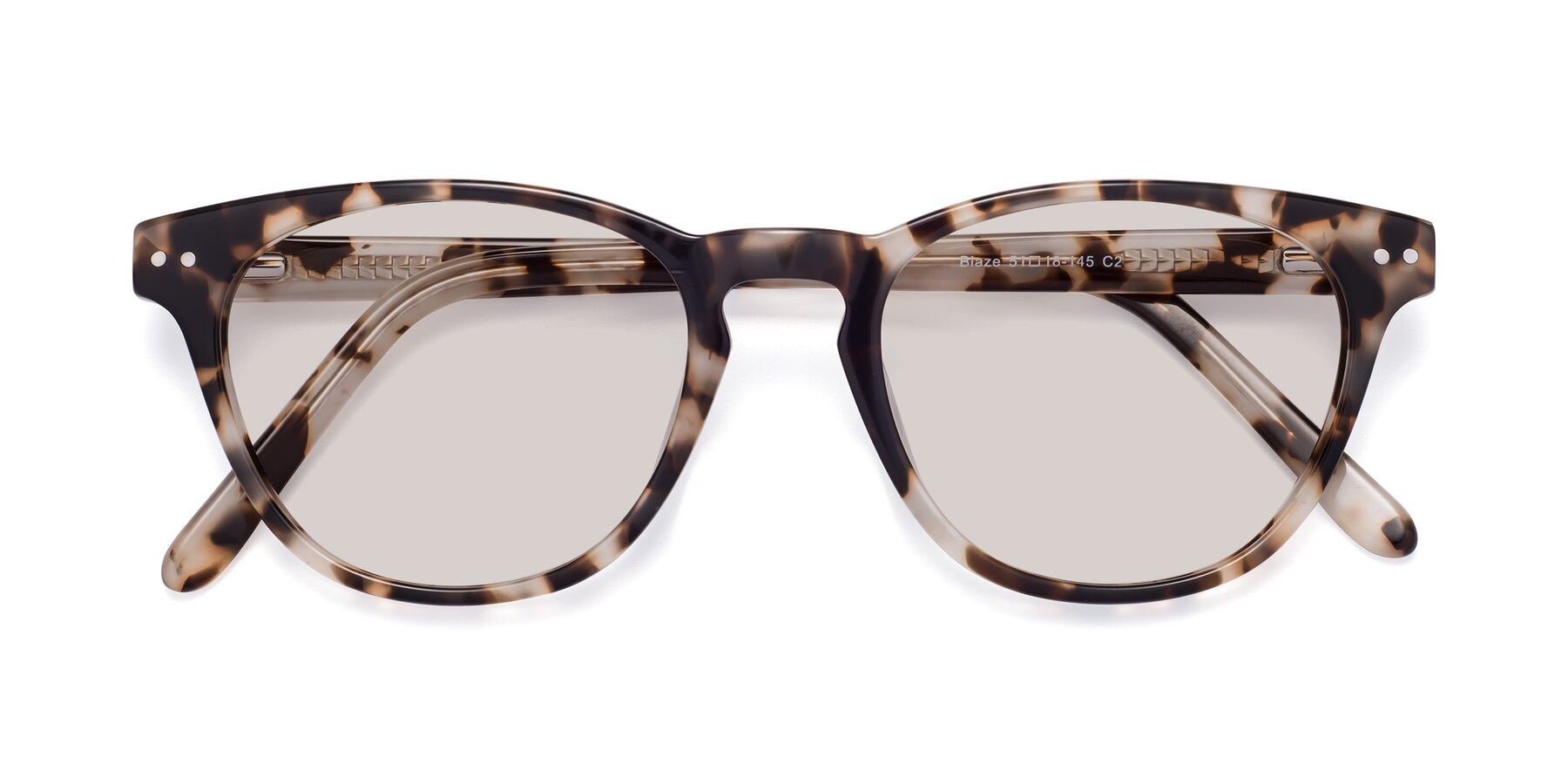 Folded Front of Blaze in Tortoise with Light Brown Tinted Lenses