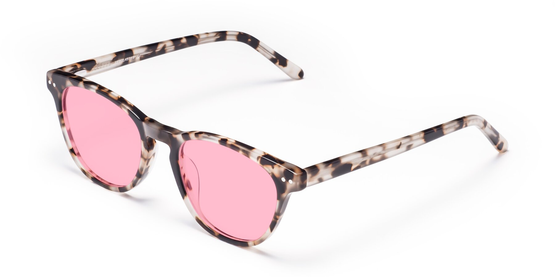 Angle of Blaze in Tortoise with Medium Pink Tinted Lenses