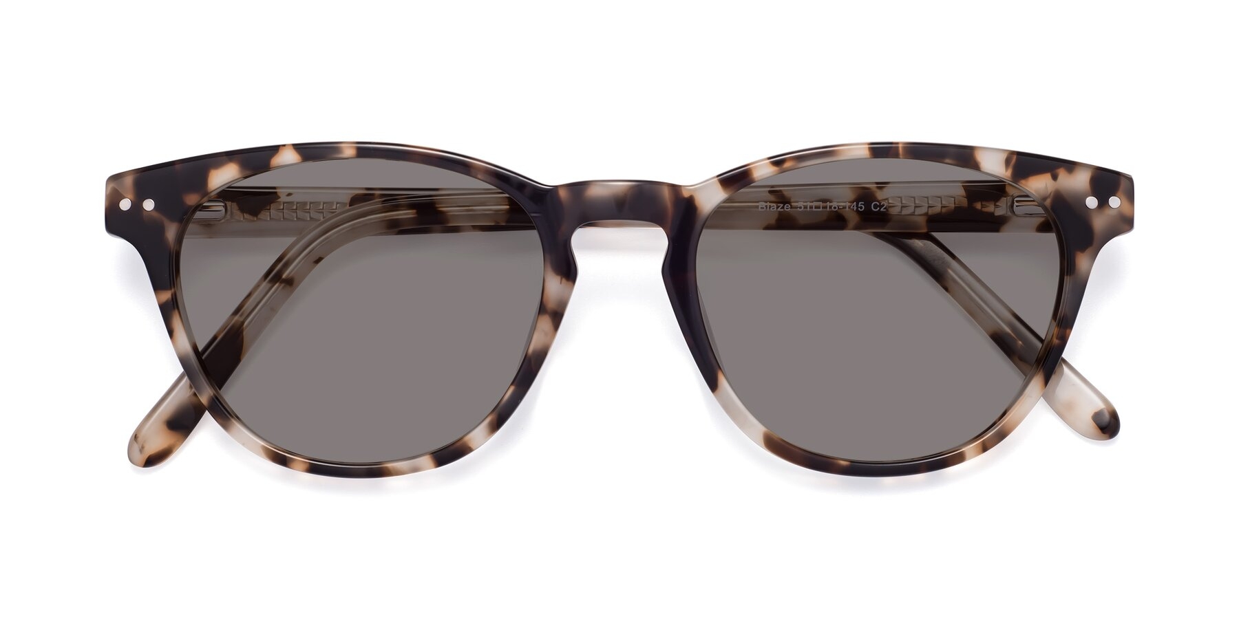 Folded Front of Blaze in Tortoise with Medium Gray Tinted Lenses