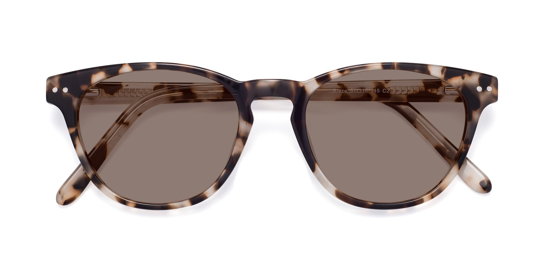 Folded Front of Blaze in Tortoise with Medium Brown Tinted Lenses