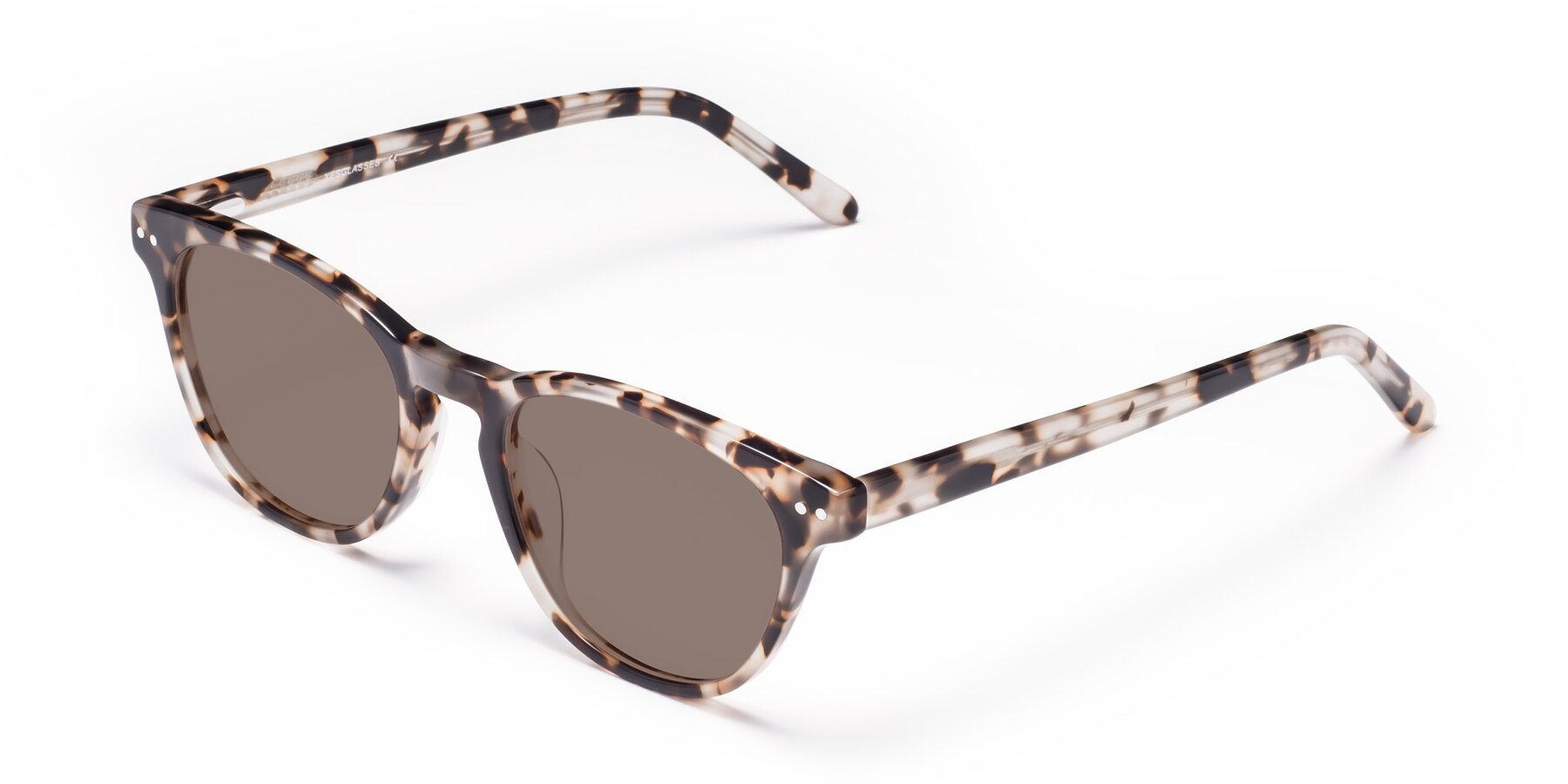 Angle of Blaze in Tortoise with Medium Brown Tinted Lenses