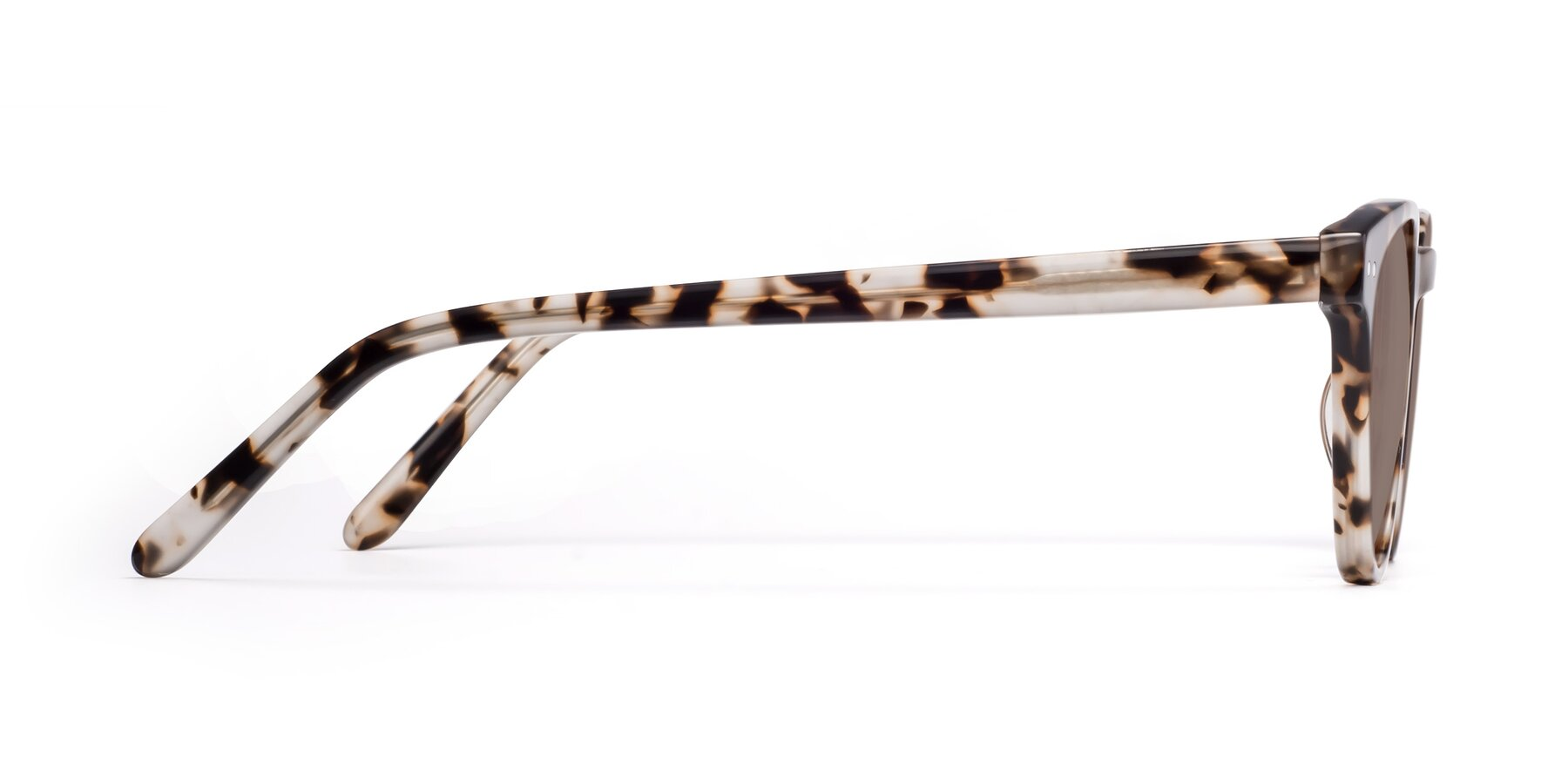 Side of Blaze in Tortoise with Medium Brown Tinted Lenses