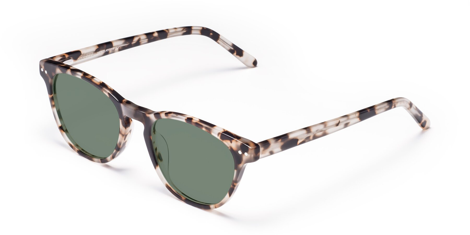 Angle of Blaze in Tortoise with Medium Green Tinted Lenses