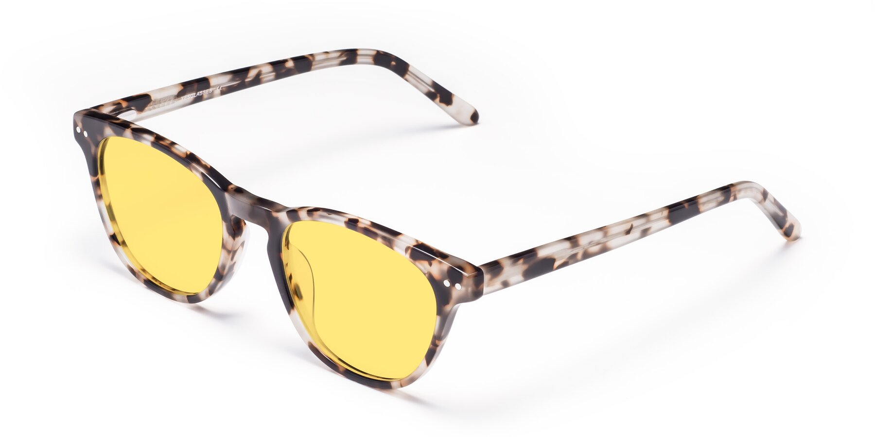 Angle of Blaze in Tortoise with Medium Yellow Tinted Lenses