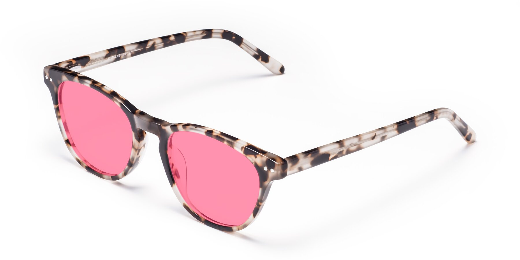 Angle of Blaze in Tortoise with Pink Tinted Lenses