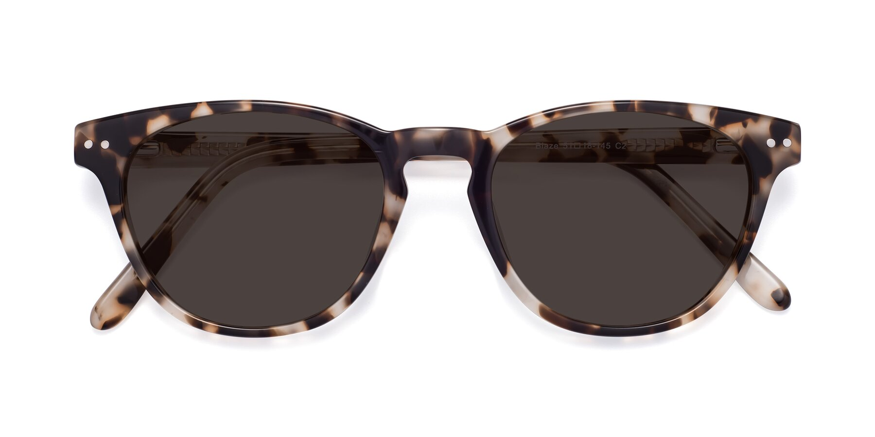 Folded Front of Blaze in Tortoise with Gray Tinted Lenses
