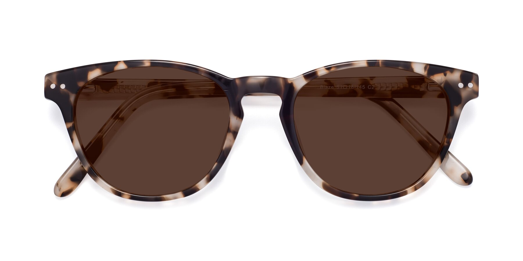 Folded Front of Blaze in Tortoise with Brown Tinted Lenses