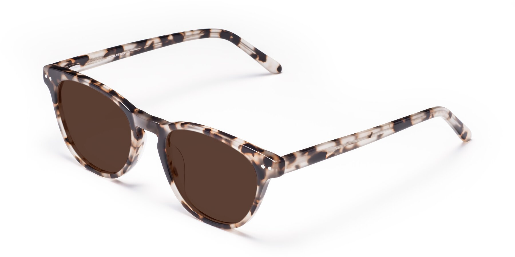 Angle of Blaze in Tortoise with Brown Tinted Lenses