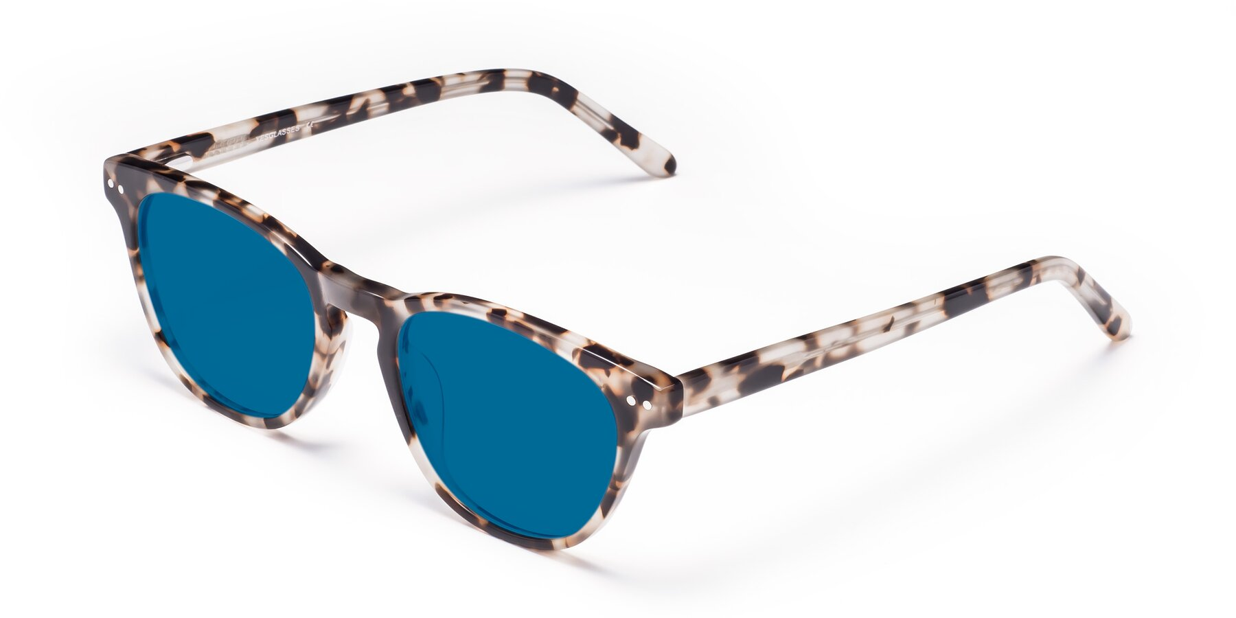 Angle of Blaze in Tortoise with Blue Tinted Lenses