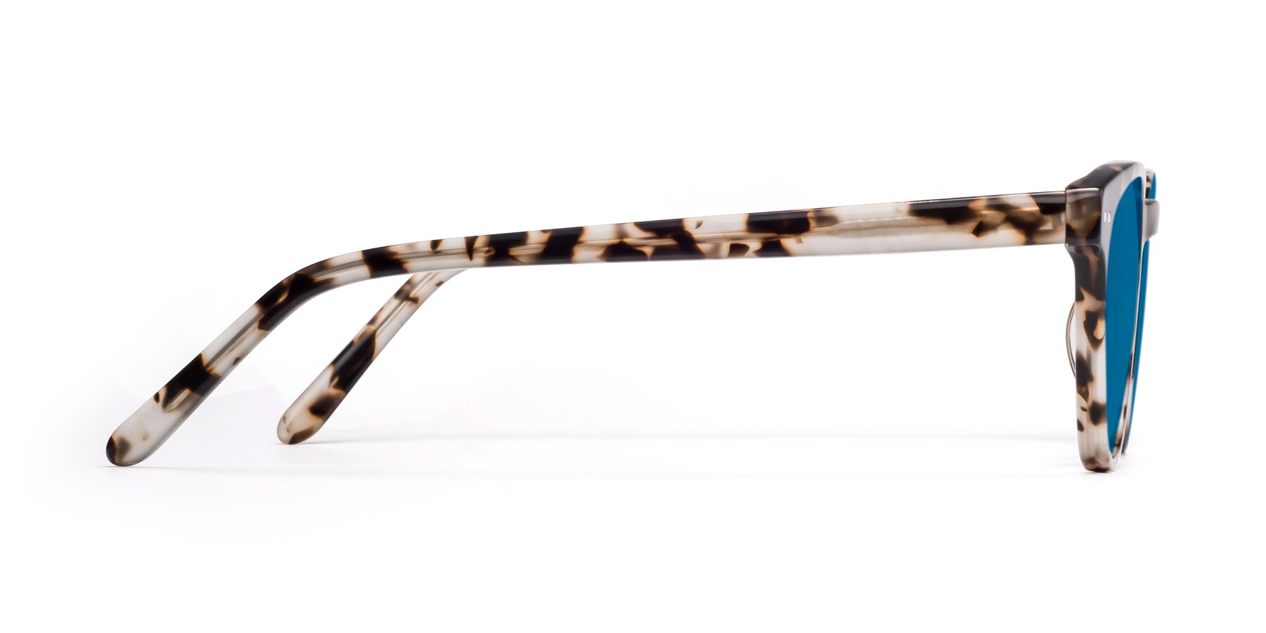 Side of Blaze in Tortoise with Blue Tinted Lenses