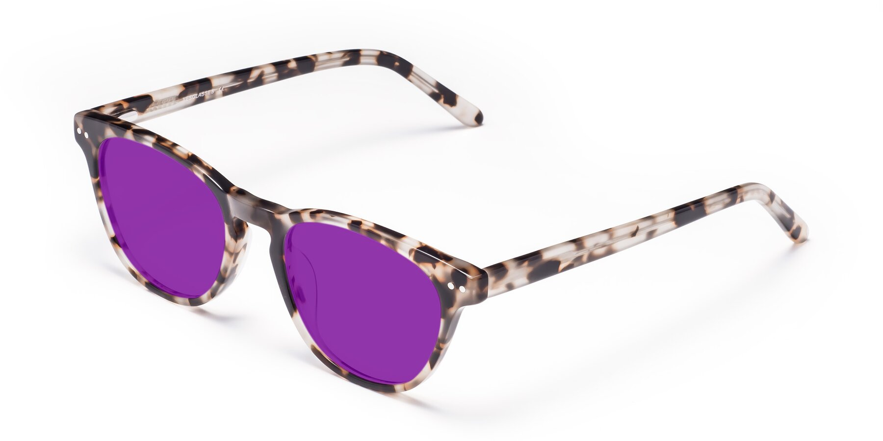 Angle of Blaze in Tortoise with Purple Tinted Lenses
